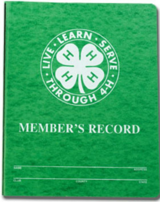4-H Record Book Cover